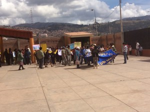 Cusco School protest