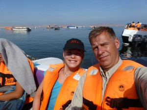 PapaAlicia on boat Peru