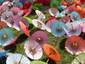 Drying Parasols
